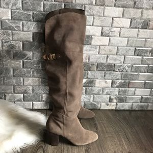 Nicole Cacoon Over the Knee boots taupe suede 7.5
